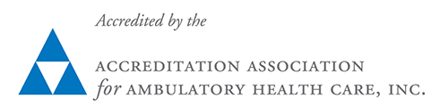 Accrdited by the Accreitation Association for Ambulatory Health Care, Inc.
